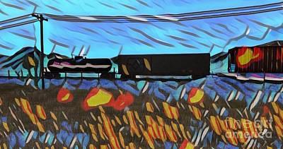 Secondlife Wall Art - Digital Art - Blue Train by Evanescence Cuntiva