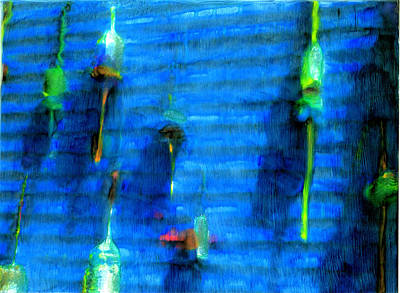 Water Bouys Painting - Blue Tranquility by FeatherStone Studio Julie A Miller