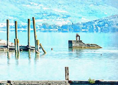 Photograph - Blue Tranquility Lago Trasimeno by Dorothy Berry-Lound