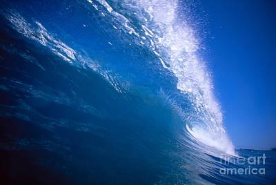 Blue Translucent Wave Art Print