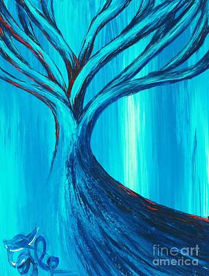 Jaco Painting - Blue Tree 07 by Xole