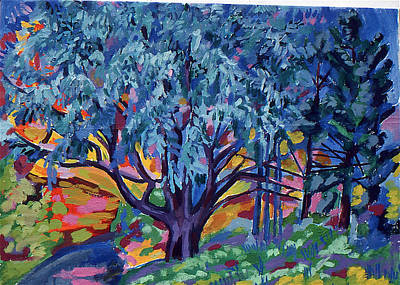 Blue Tree Far Country Art Print