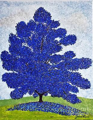 Painting - Blue Tree By Jasna Gopic by Jasna Gopic