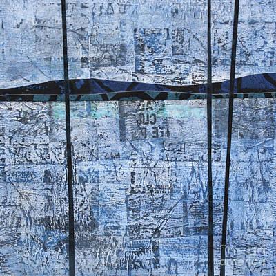 Mixed Media - Blue Trees #1 by Janyce Boynton