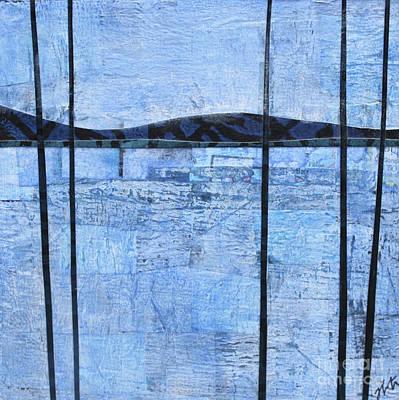 Mixed Media - Blue Trees #2 by Janyce Boynton