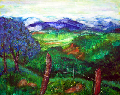 Painting - Blue Trees At Santa Inez by Sarah Hornsby