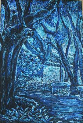 Blue Trees Art Print by Patricia Gomez