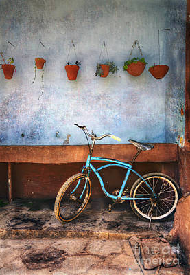 Photograph - Blue Trinidad Bicycle by Craig J Satterlee