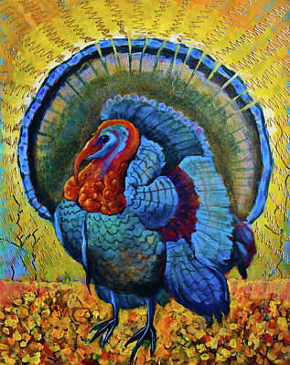 Painting - Blue Turkey by Maxim Komissarchik