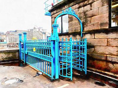 Photograph - Blue Turnstile On Tower Bridge by Dorothy Berry-Lound
