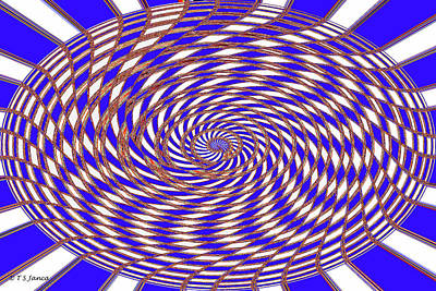 Digital Art - Blue Twist And Twirl by Tom Janca