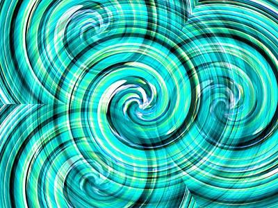 Photograph - Blue Twister by Dietmar Scherf