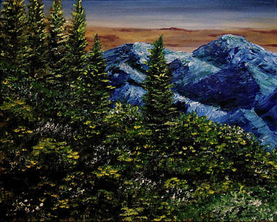 Bling Mixed Media - Blue Valley by Patti Pierce