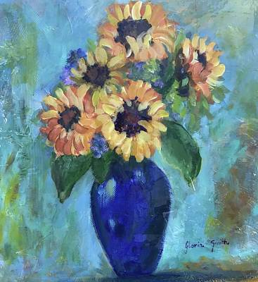 Painting - Blue Vase by Gloria Smith