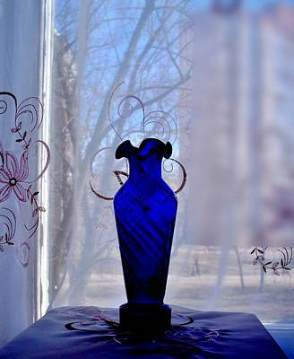 Photograph - Blue Vase In A Window  by Rick Todaro