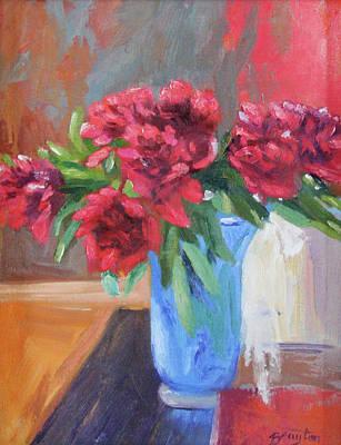 Painting - Blue Vase by Julie Brayton