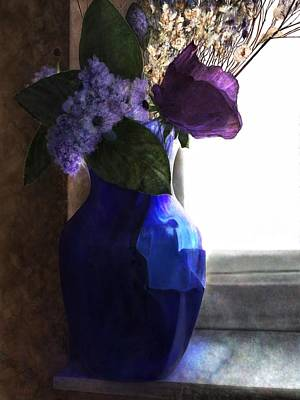 Digital Art - Blue Vase by Mary Eichert