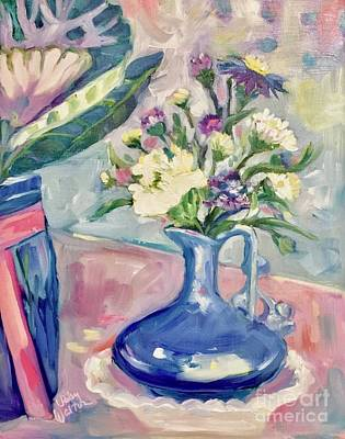Painting - Blue Vase by Patsy Walton