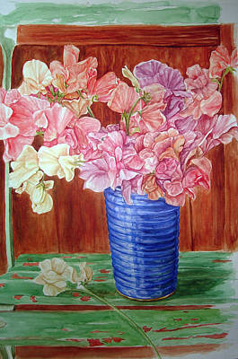 Painting - Blue Vase by Sethu Madhavan