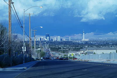 Photograph - Blue Vegas by Carl Wilkerson