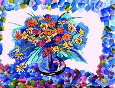 Blue Velvet  Original by Connie Valasco