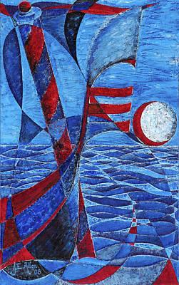 Joseph Edward Allen Painting - Blue Venitian by Joseph Edward Allen