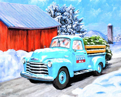 Snow Drifts Painting - Deliveries To Make Before We Sleep by Mark Tisdale