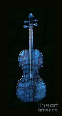 Photograph - Blue Violin by John Stephens
