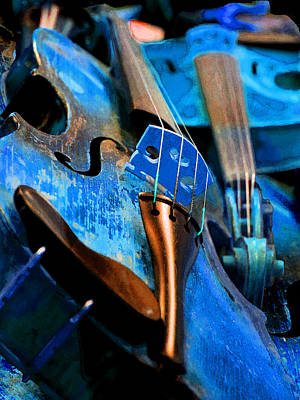 Photograph - Blue Violin by Michele Avanti
