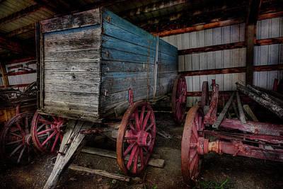 Photograph - Blue Wagon by Doug Matthews