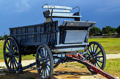 Photograph - Blue Wagon by Tikvah's Hope