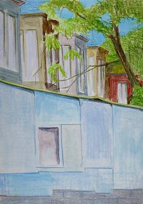 Bethany Lee Painting - Blue Wall by Bethany Lee