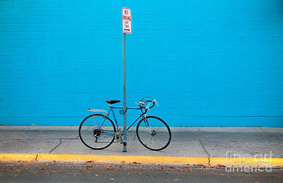 Photograph - Blue Wall Bicycle by Craig J Satterlee