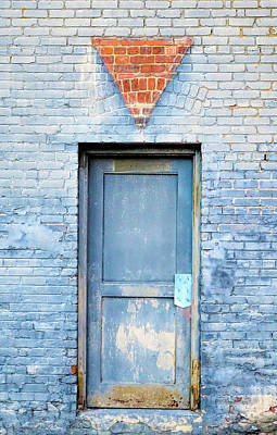 Photograph - Blue Wall Blue Door by Denise Beverly