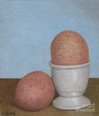 Painting - Blue Wall Eggs by Carol Bond Art