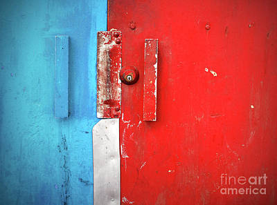 Photograph - Blue Wall Red Door by Tara Turner