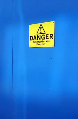 Blue Warning 2 Art Print by Jez C Self