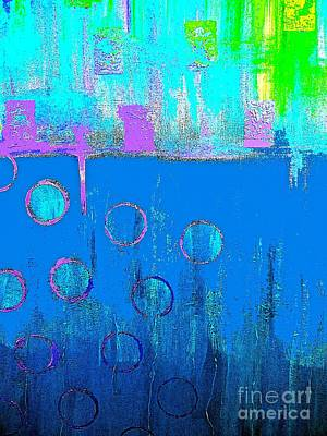 Painting - Blue Water And Sky Abstract by Saundra Myles