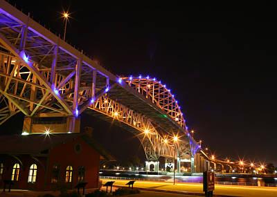 Blue Water Bridge At Night Original