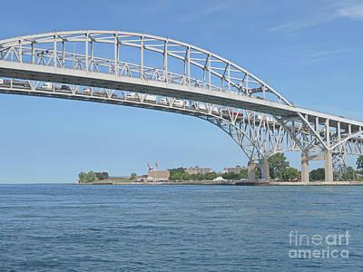 Photograph - Blue Water Bridge From Canada by Ann Horn
