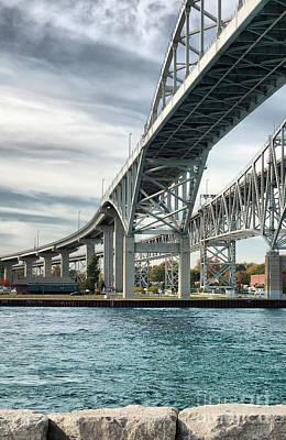 Michigan Port Huron Photograph - Blue Water Bridge by Joe  Ng