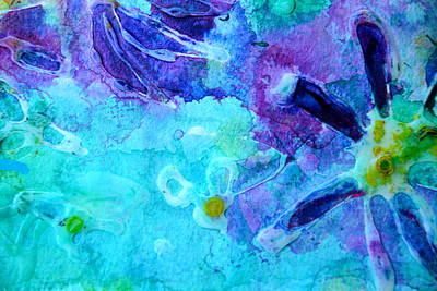 Photograph - Blue Water Flower by Paper Jewels By Julia Malakoff