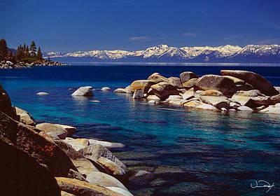 Nevada Lake Tahoe Photograph - Blue Water Lake Tahoe by Vance Fox