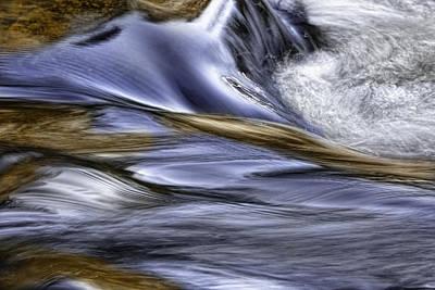 Photograph - Blue Water Reflections by Ken Barrett