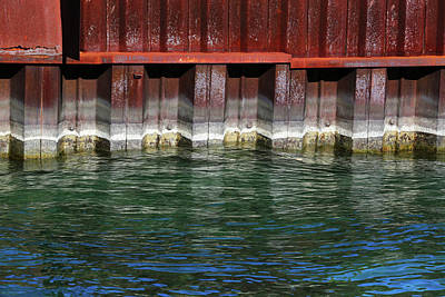 Photograph - Blue Water Retaining Wall 2 by Mary Bedy