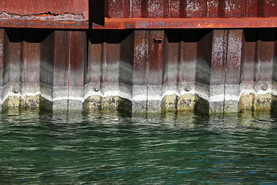 Photograph - Blue Water Retaining Wall 4 by Mary Bedy