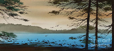 Painting - Blue Water Tidelands by James Williamson
