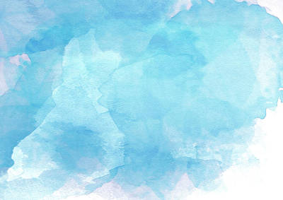 Blue Watercolor Background Digital Art By Panupong Lithkai