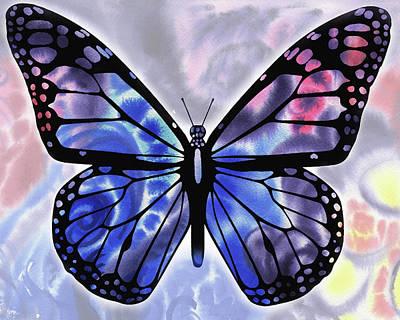 Painting - Blue Watercolor Butterfly by Irina Sztukowski
