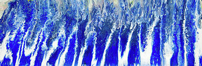 Painting - Blue Waterfall Cascades by The Art House